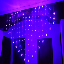 SPLEVISI 2x1.5M LED Heart-Shape Butterflies Fairy String Curtain String Light Xmas Valentine's Day Birthday Wedding Party Decor string light heart print valentine s day linen pillowcase