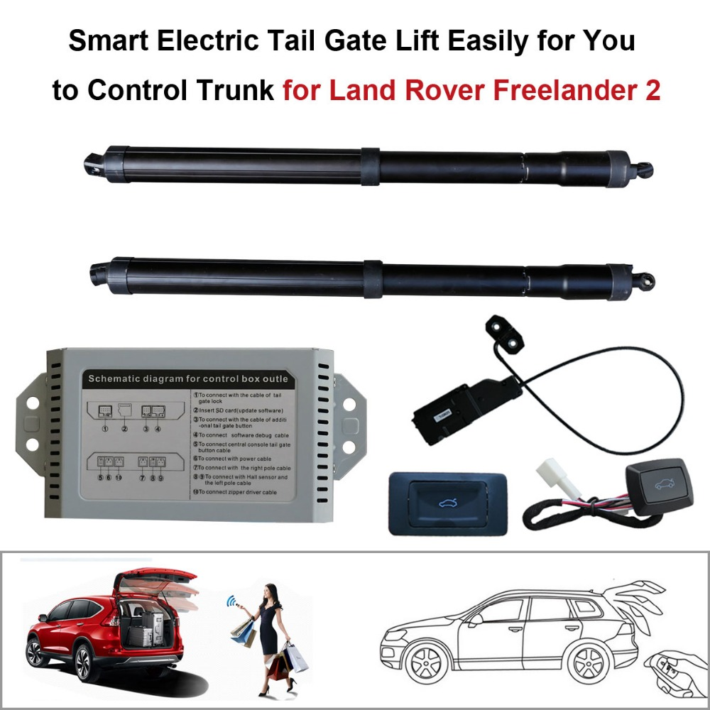 Smart Auto Electric Tail Gate Lift For Land Rover Freelander 2 Control Set Height Avoid Pinch With Latch