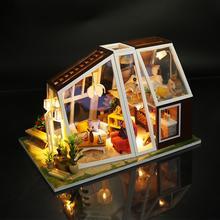 DIY модель кабины пакет подарок на день рождения головоломки игрушки Аврора кабина мини 3D теплица ремесло набор игровой дом игрушки для детей и взрослых