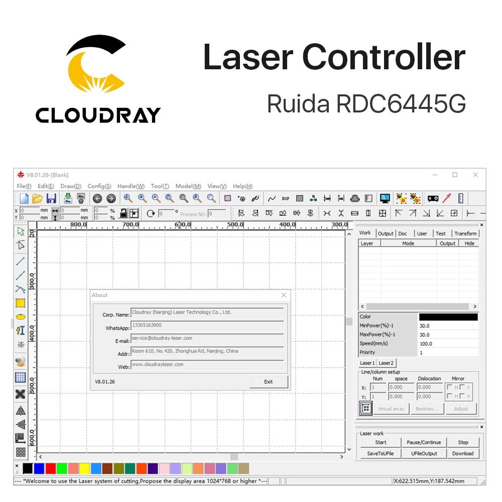 Ruida RDC6445 RDC6445G kontroller Co2 lasergraveerimisega - Puidutöötlemismasinate varuosad - Foto 4