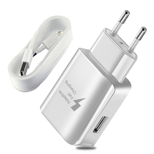 Portable US EU Travel Charger 5V 2A Qucik Charge 2.0 Universal Adapter for iPhone X XR XS MAX Battery USB Cable Type-c