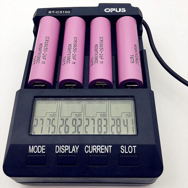 Original NIGHTKONIC 8 unids/lote 3,7 V 2600 mAh Li-ion 18650 batería recargable ICR18650-26F (sin cargador)