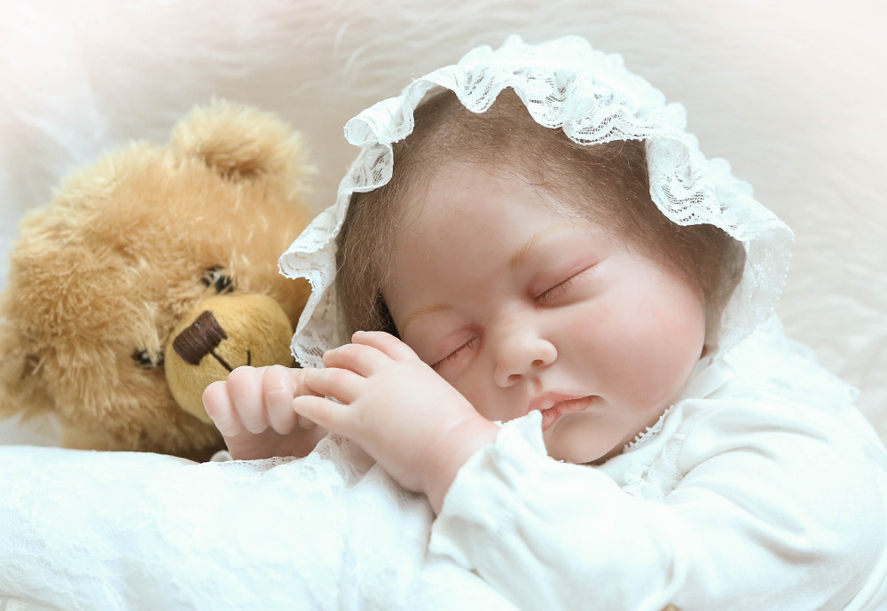 55cm Exquisite Silicone Reborn Baby Doll Toys Lifelike NPKCOLLECTION Newborn Sleeping Babies Doll Girls Brinquedos Childs Gift