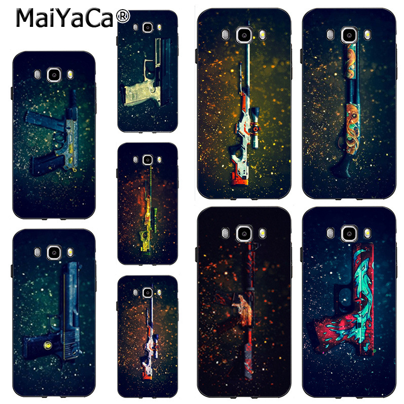 Glorious Maiyaca Cs Counter Strike Game Weapon Gun 2018 Colored Drawing Hard Case For Samsung Note 5 Note8 J7 J6 J4 J2pro Case Fast Color Phone Bags & Cases Half-wrapped Case