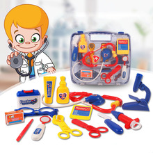 Puzzle Garden Kids Educational Pretend Play Doctor Toys Set Child Medical Kit Doctor Case Juguetes Nurse Roleplay Classic Toys