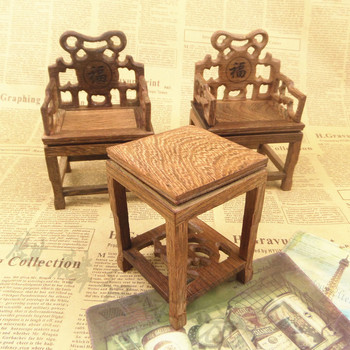 Kylin rosewood crafts of Ming and Qing Dynasty classical furniture model of small micro miniature wooden chair a penalty ten