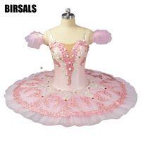 Взрослые Профессиональные Балетные костюмы пачки кремовый розовый блюдо производительность фея кукла блин пачки Классическая Балетные ко