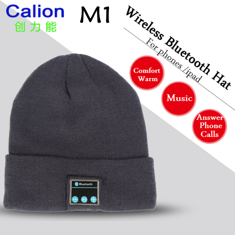 CALION M1 Fashion Comfort Warm bluetooth Music Earphone Cap Wireless Bluetooth Headphone ...