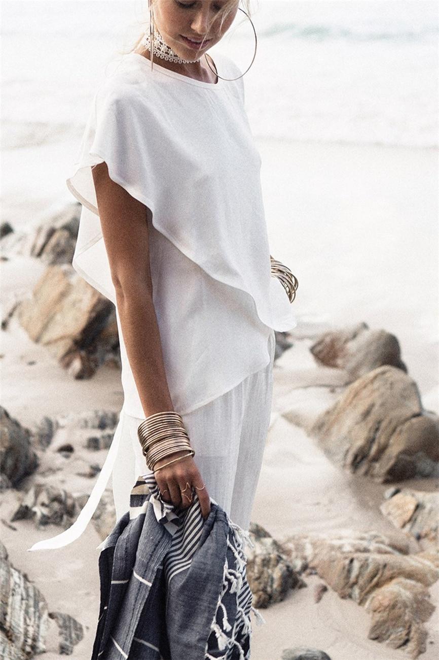 Short Sleeve White Chiffon Blouses Women Clothing Summer Woman Casual Blouse New Women Shirts Female (Us 6-14)