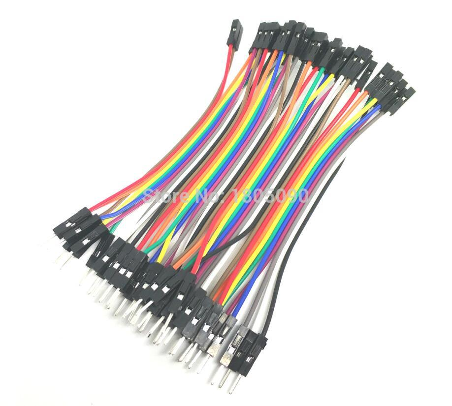 все цены на 40pcs/lot 10cm 40P 2.54mm dupont cable jumper wire dupont line male to female dupont line free shipping онлайн
