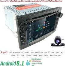 1024*600 QuadCore 2din Android 8.1 2G + 16G PX5 Lettore DVD Dell'automobile Per Opel Corsa Vectra C D Meriva Vivaro Tigra Signum Radio GPS Navi