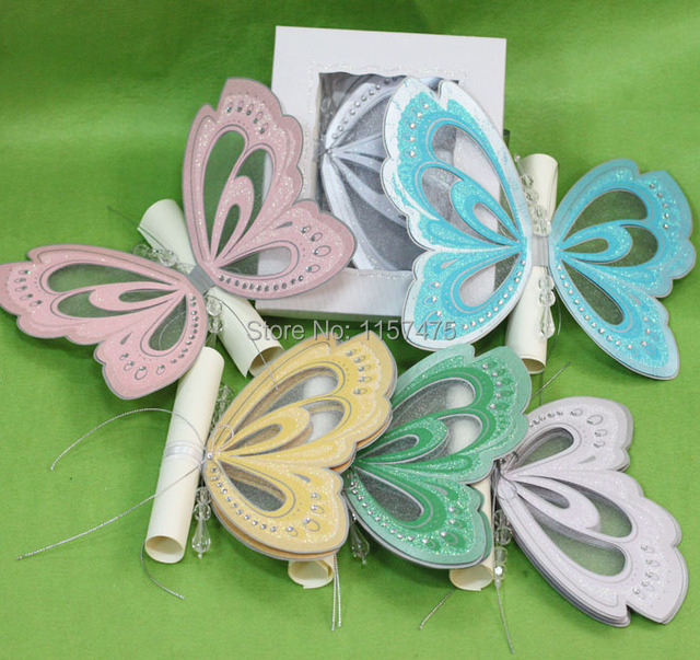 Aliexpresscom Buy HI2053 Hot Sale Butterfly Wedding Invitation