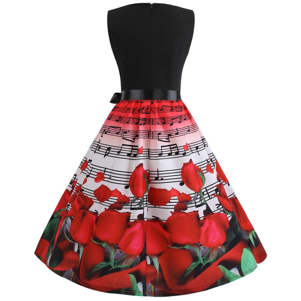 HTB1RRUWbdfvK1RjSspoq6zfNpXao Women Summer Dresses 2019 Robe Vintage 1950s 60s Pin Up Big Swing Party Work Wear Rockabilly Dress Black Polka Dot Vestidos