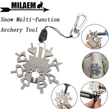 21 in1 Snow Multi-function Archery Tool Outdoor Sports  Wrench Keychain Tools Arrow Repair EDC Gadget Shooting Accessories