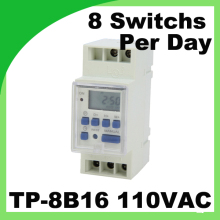 Weekly Programmable digital time switch JF 15B TP 8B16 110VAC Din Rail microcomputer Timer Controller