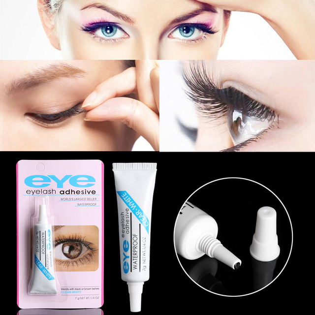a38f076144f 1 Pcs Beauty Clear Practical White Black Waterproof False Eyelashes Durable  Cosmetic Makeup Adhesive Eye Lash