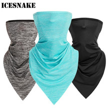 ICESNAKE Motorcycle Face Mask Bicycle Triangle Sport Scarf Ice Fabric Riding Bike Scarves Breathable Running Headband