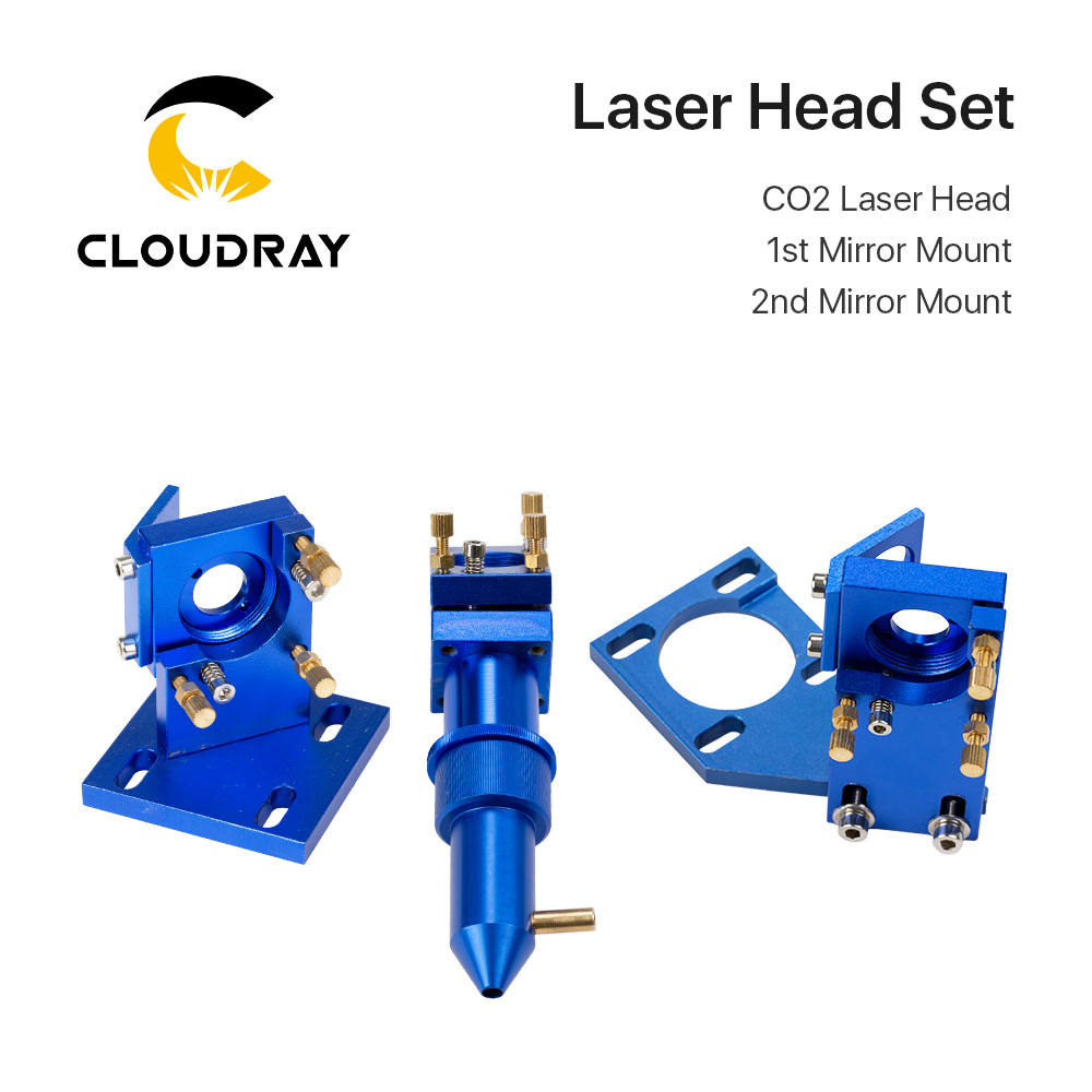 K Series: Cloudray CO2 Laser Head Set For 2030 4060 K40 Laser Engraving Cutting Machine