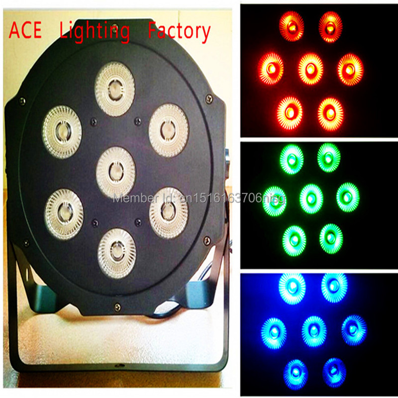ФОТО Free&Fast Shipping hot selling LED SlimPar 7x9W RGB 3IN1 LED DJ Wash Light Stage Uplighting chandelier factory directly sale