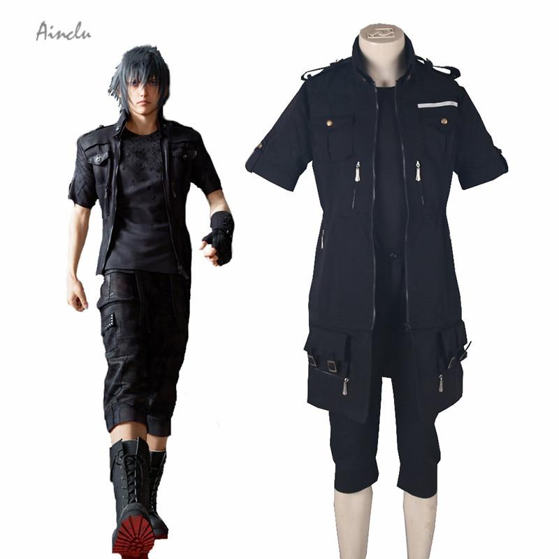 Ainclu Free Shipping Final Fantasy XV Brotherhood Noctis Lucis Caelum Fighting Uniform  Halloween Cosplay Anime Lucy Costumes