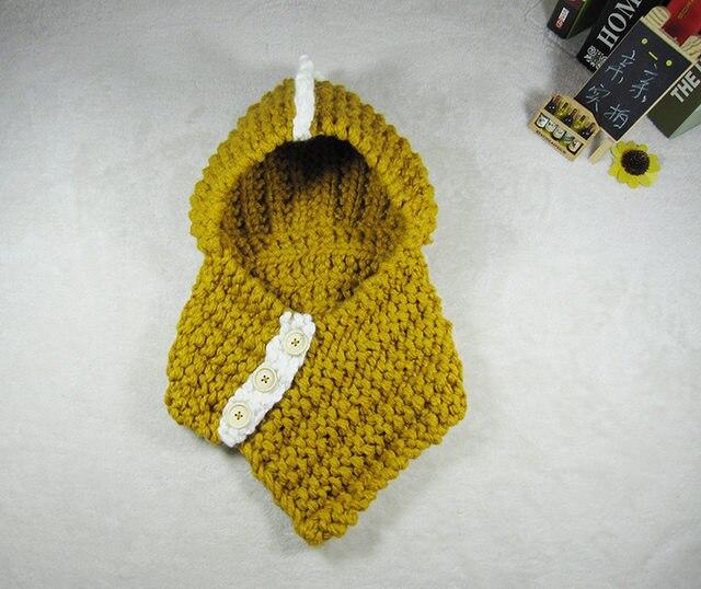 Tienda Online Dinosaurio forma crochet capucha invierno bufanda del ...