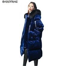 2017 True Collar Women Down Jacket White Duck Jacket winter Parka Hooded Loose Long Jacket Coat Manteau Femme Warm Coat Q776