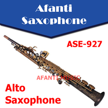 Afanti Music Bb tone / Brass body / Black Nickel Gold Soprano Saxophone (ASE-927)