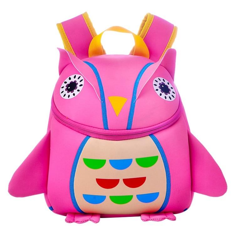 TOCHANG Lovely Kids Animal Backpacks Baby Girls Boys Cute Schoolbag Children  3D Dog Owl Cartoon Small Bag Kindergarten Toys 427cd89d5145c