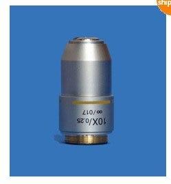 Brand NEW DIN 10X INFINITY PLAN MICROSCOPE OBJECTIVES LENS brand new microscope achromatic objective lens 4x 10x 40x 100x set free shipping
