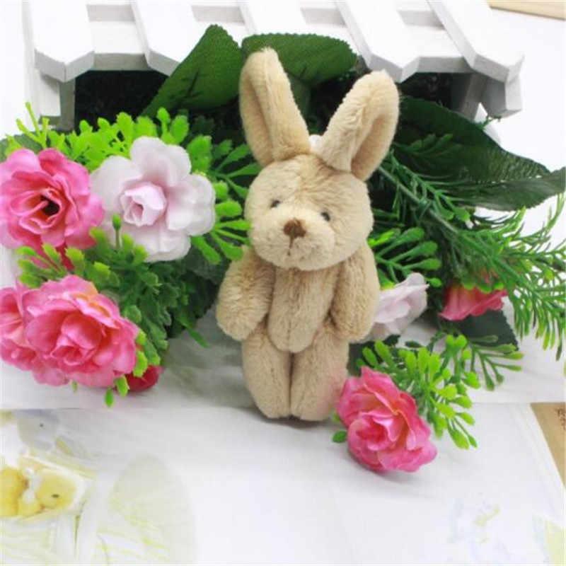 1 قطعة صغيرة 8 سنتيمتر أفخم المشتركة ألعاب أرانب 4 اللون اختيار قلادة صغيرة DIY بها بنفسك لينة محشوة الأرنب لعبة الاطفال النشاط هدايا جديد