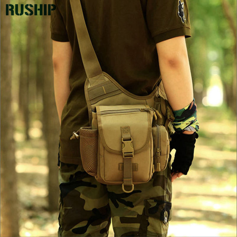 Unisex Tactics Waterproof Military Camouflage Trekking Travel Bags Shoulder Bags Multifunctional Camera Saddle Bag