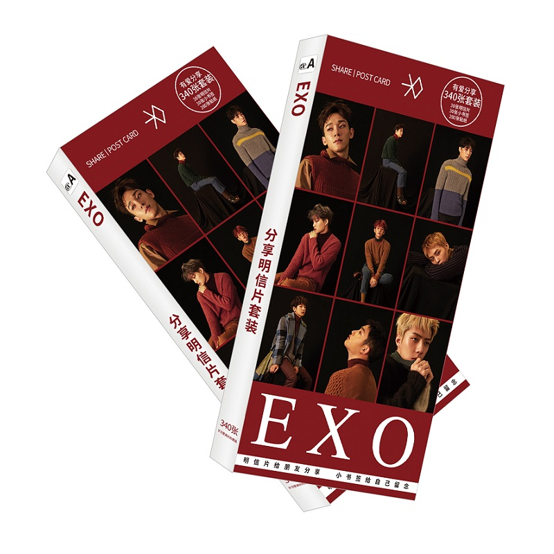 200 Pcs/Set Korean EXO Paper Postcard/Greeting Card/Message Card/Christmas And New Year Gifts