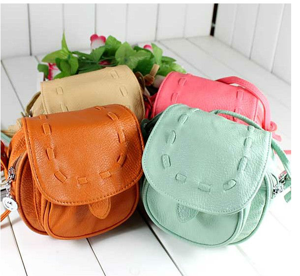Mini Small Lovely Cute PU Leather Adjustable women's Shoulder Bag ...