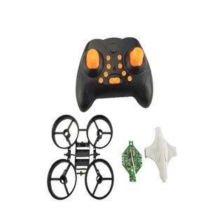 Image 5 - Bricolage Min Drone RC télécommande hélicoptère une clé retour sans tête quadrirotor hélice moteur batterie récepteur conseil accessoires