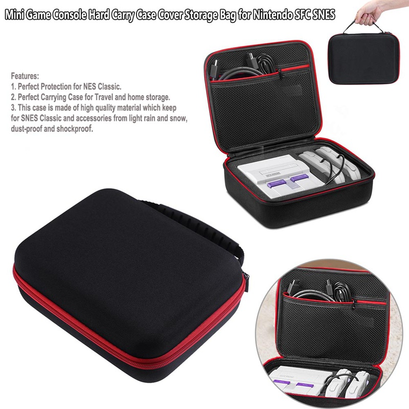 Mini Game Console Hard Carry Case Cover Storage Bag for Nintend for SFC SNES Family Computer Hard Travel Case High Quality Box стоимость