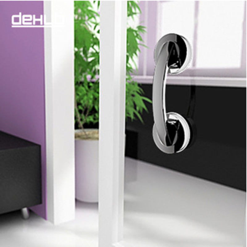 Pull/Push Silver Suction Cup Bathroom Door Handles Safety Grip Rail Free Shipping