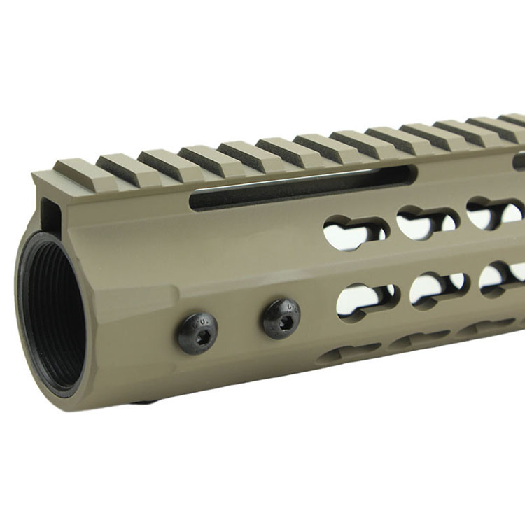 Funpowerland Keymod Free Float Rifle Style Tan color 15 quot Inch Handguard Rail Mount in Scope Mounts amp Accessories from Sports amp Entertainment