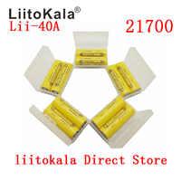 2-14PCSLiitoKala Lii-40A 21700 4000 mah li-ni batterie 3.7 V 40A pour Cigarette électronique Mod/Kit 3.7 V 30A puissance 5C débit décharge