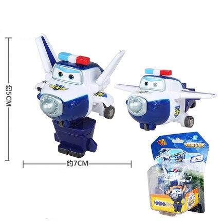 12 стилей, мини Супер Крылья, деформация, мини реактивный ABS робот, игрушка, фигурки, Супер крыло, трансформация, игрушки для детей, подарок - Цвет: With box Paul