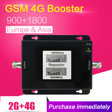 LCD Display 2G 4G GSM 900 LTE 1800 Dual Band Mobile Phone Signal Repeater 65dB GSM 4G LTE Cellphone Cellular Booster Amplifier