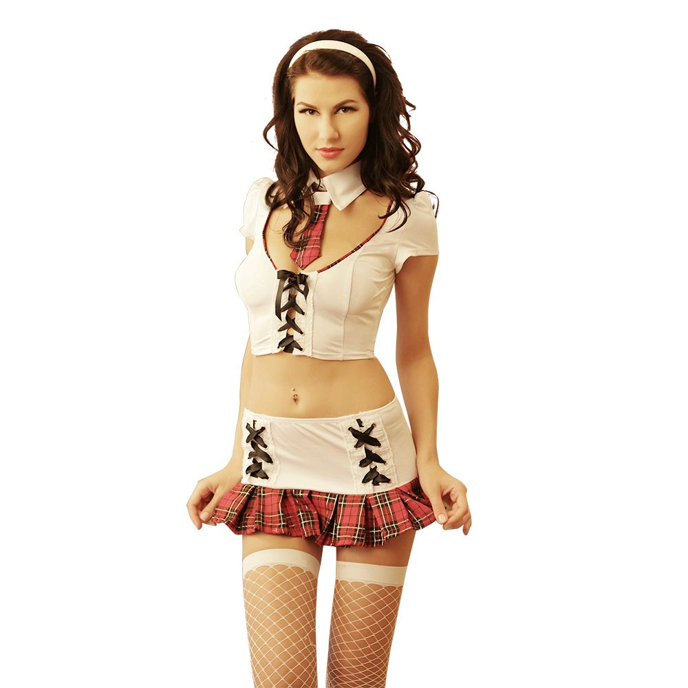 Women Cute sexy school Student Uniform Short Skirt Set Uniform outfits Enticement Party Dress Up Exotic cosplay Sexy costumes