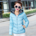 Women Autumn Winter Down Padded Cotton Jacket Female Short Down Parkas Lady Hooded Thick Coat Both Sides Outwear Plus Size LQ008