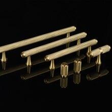 European Luxury 10PCS Brass Cabinet Pulls Handles Cupboard Wardrobe Drawer Kitchen and Knobs Furniture Hardware