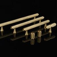 European Luxury 10PCS Brass Cabinet Pulls Handles Cupboard Wardrobe Drawer Kitchen Cabinet Handles and Knobs Furniture Hardware