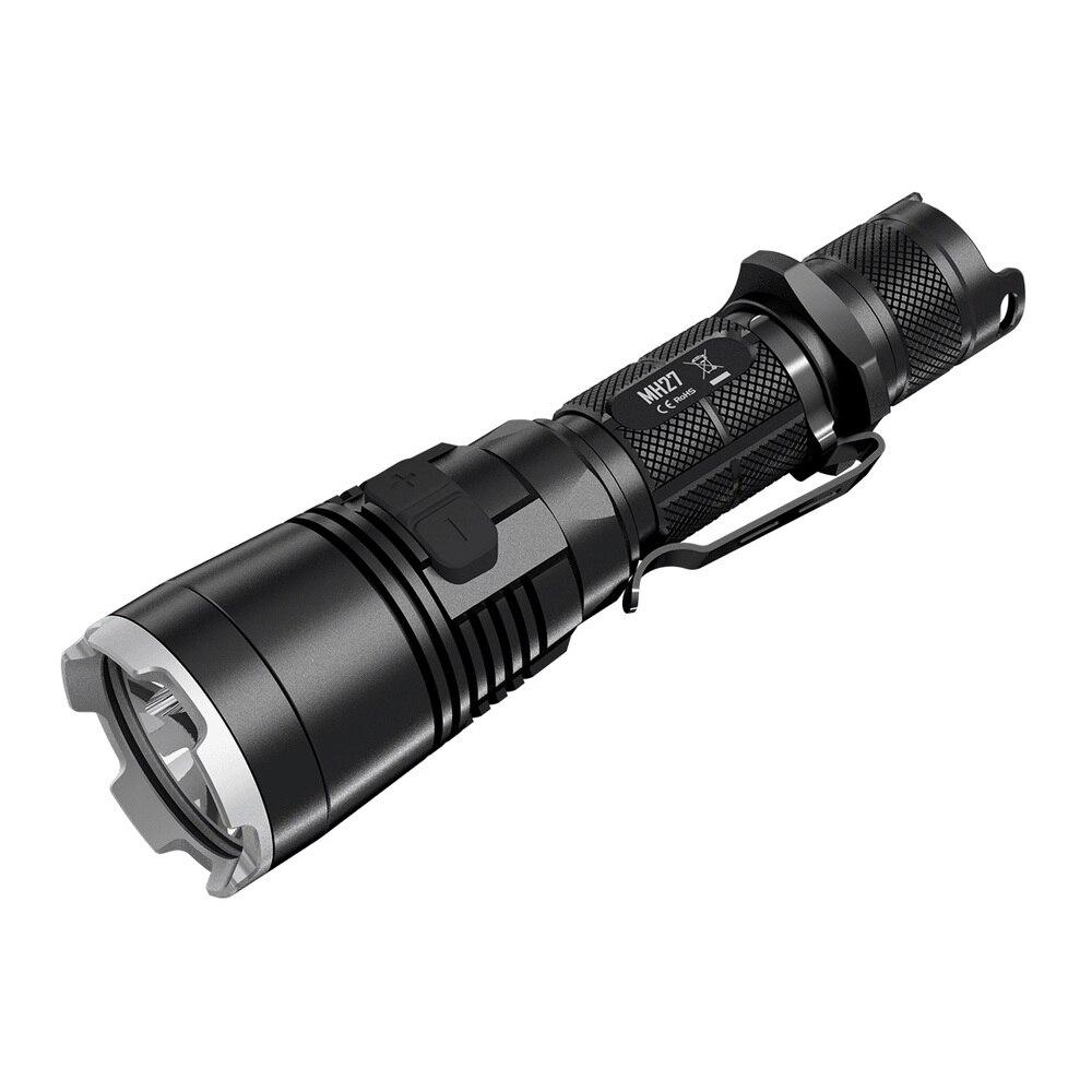 Red Dot Award 2016 Winner Nitecore MH27 MH27UV 1000 Lumen CREE XP-L HI V3 LED Rechargeable USB Flashlight with RGB LEDs fenix hp25r 1000 lumen headlamp rechargeable led flashlight