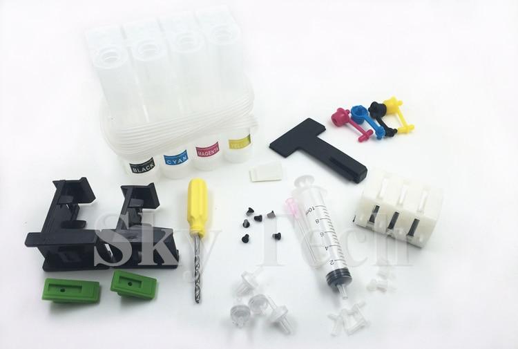 CISS értékcsomag, szívószerszám + csappantyú + CISS készlet, CISS DIY csomag HP és Canon patronokhoz.