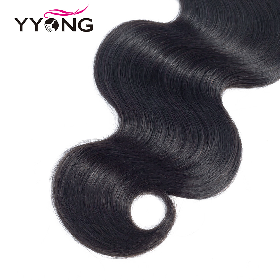 """Yyong  Body Wave Closure  4X4 Medium Brown Lace Closure Free/Middle/Three Part Swiss Lace With Baby Hair 8""""-22"""" 6"""