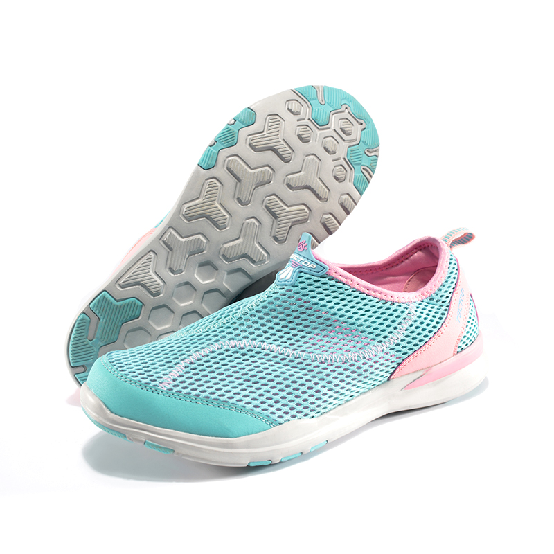 Spring summer Women shoes mesh breathable Wading shoes jogging outdoor non slip stream trekking shoes