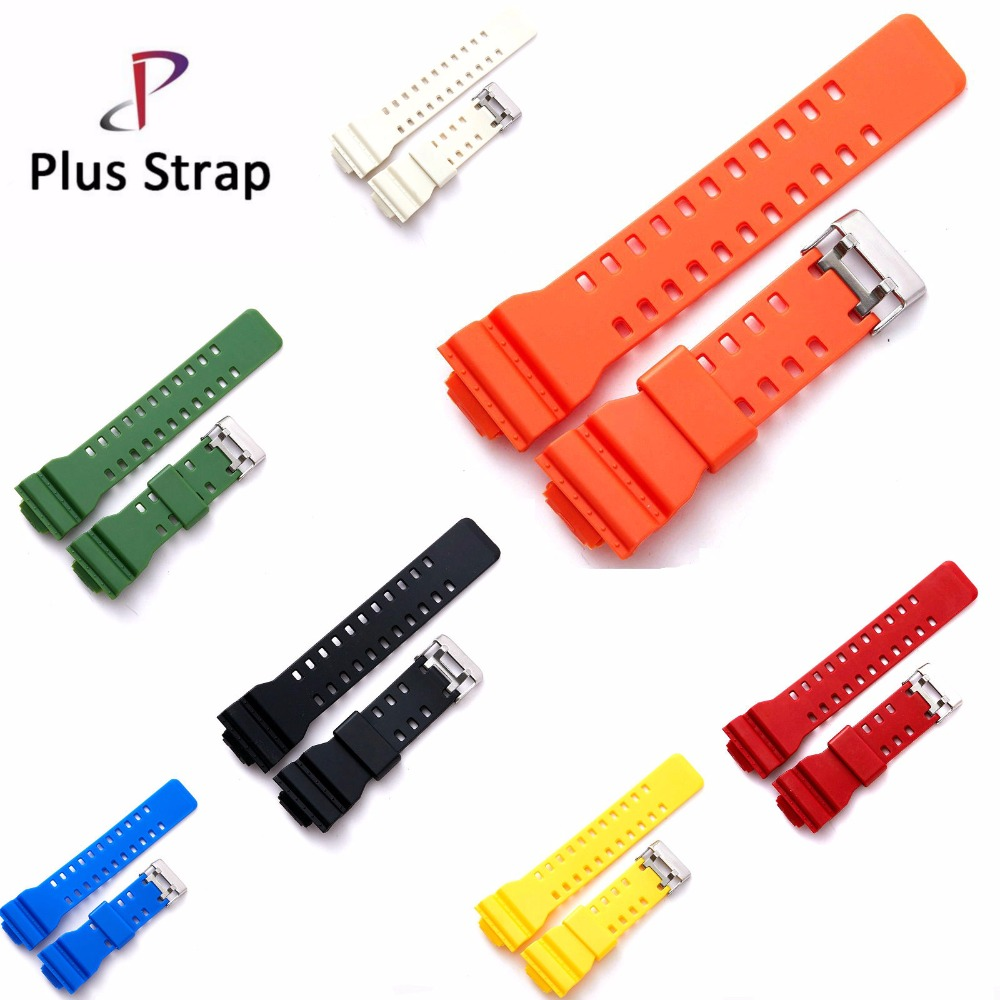 Watch Band Strap for Casio GA-100 GA-100 GA-120 GA-120 GD-100 GD-120 GA-100C 16 mm Wristband