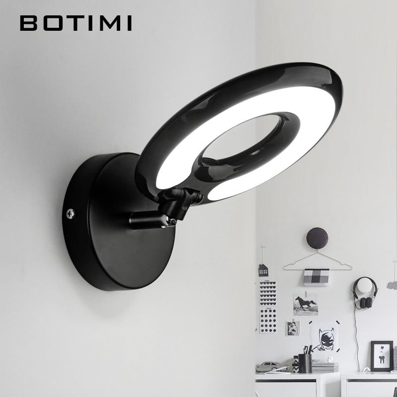 BOTIMI LED Lampada Da Parete Per Camera Da Letto Rotondo Lettura Da ...